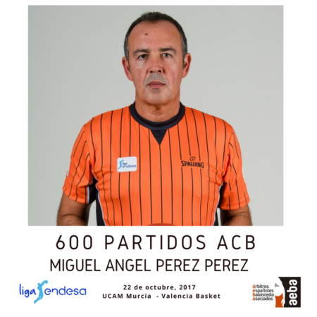 Miguel Ángel Pérez Pérez reaches his 600th ACB match