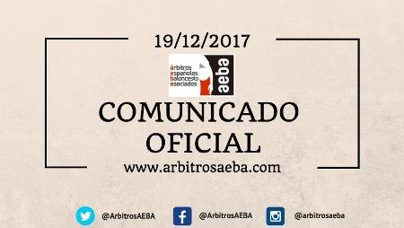 Comunicado oficial AEBA y se agradece al Sr. Cuspinera su rectificación