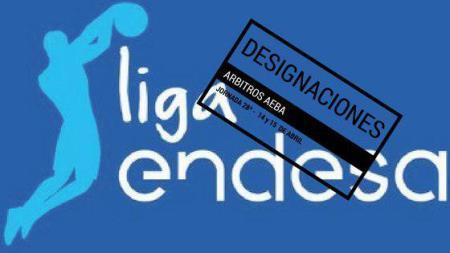 Designaciones arbitrales Liga Endesa jornada 28