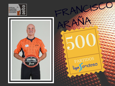 Francisco Araña reaches his 500th match in ACB