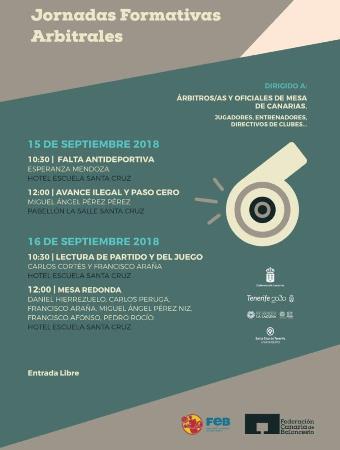 Jornadas formativas arbitrales Federación Canaria de Baloncesto