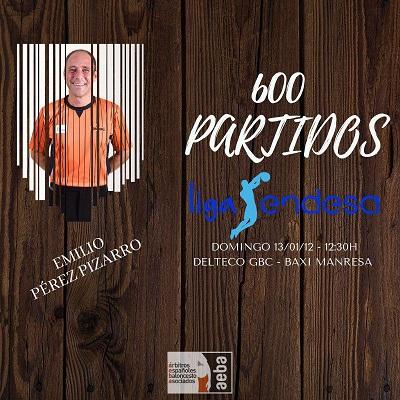 Emilio P. Pizarro cumplirá 600 partidos en ACB