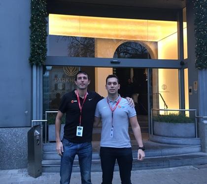Alberto Sánchez y Xavi Torres en el Campus de Arbitros potenciales FIBA