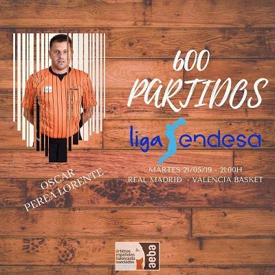 Óscar Perea cumplirá 600 partidos en ACB