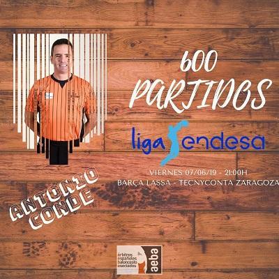 Antonio Conde alcanzará 600 partidos en ACB