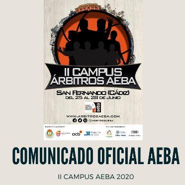 Segundo comunicado oficial Campus Árbitros AEBA 2020